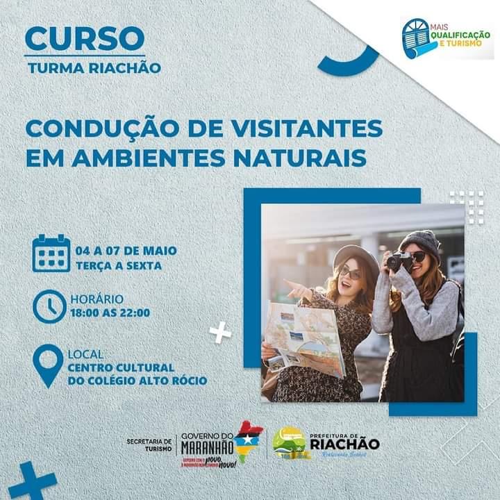 CURSO GRATUITO DE CONDUÇÃO DE VISITANTES EM AMBIENTES NATURAIS 🏞