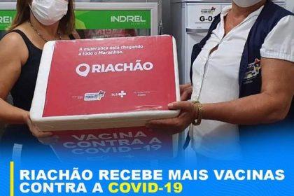‼️💉 Chegou mais um lote de vacinas para atender mais grupos, até conseguirmos imunizar toda a população riachãoense.