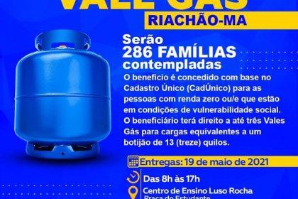 PROGRAMA VALE-GÁS EM RIACHÃO 🤝